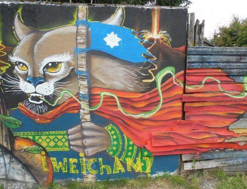 Manifestación en Coñaripe por la vida y la libertad de los presos políticos mapuche